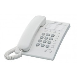 Teléfono Alámbrico Básico, Color Blanco, con 13 memorias KX-TS550 Panasonic