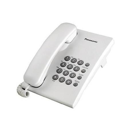Teléfono Unilinea -Color Blanco/sin memorias KX-TS500 Panasonic