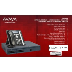 Paquete 1 Avaya